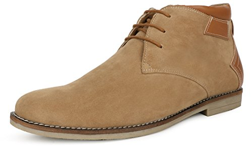 Escaro Men's Beige Casual Lace Up Chukka Boots(ES2080GN_BEIGE_8)