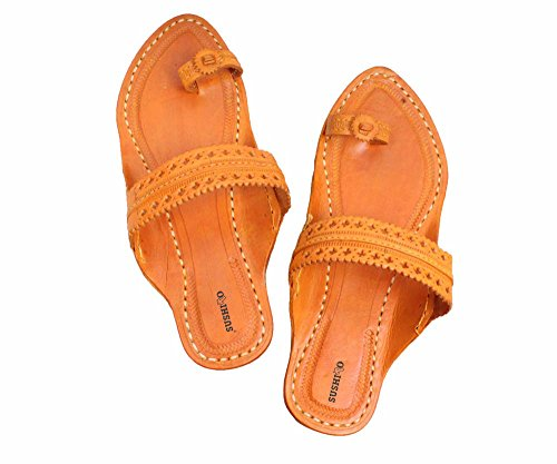 Kolhapuri Designer Pure Leather Paytaan For Women (7)