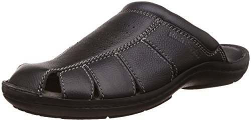 Hush Puppies Men's New Decode Close Mul Black Leather Hawaii Thong Sandals – 8 UK/India (42 EU)(8746908)
