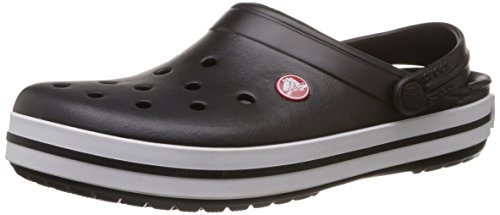 Crocs Unisex Crocband Black Rubber Clogs and Mules – M10/W12