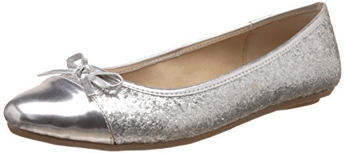 Bata Women's Cersei Silver Ballet Flats – 6 UK/India (39 EU)(5511313)