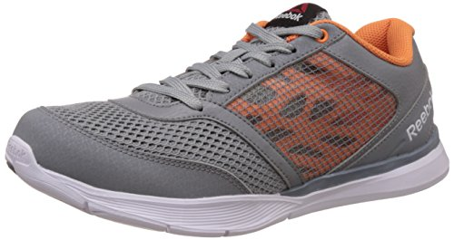 Reebok Women's Cardio Low Grey, Orange and White Multisport Training Shoes – 4 UK