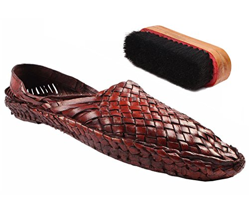 Sushito Maharashtrian Leather Kolhapuri Chappal For Women With Shoe Brush (6)