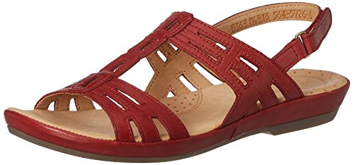 Hush puppies Women's Cana-Bk Strp Red Leather Fashion Sandals – 5 UK/India (38 EU)(5645926)