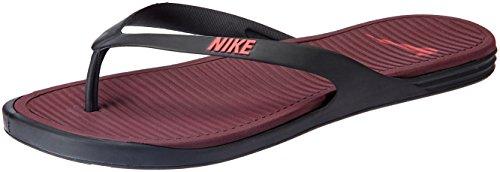 Nike Men's Matira Thong Black, Action Red and Night Maroon Flip Flops Thong Sandals -8 UK/India (42.5 EU)(9 US)
