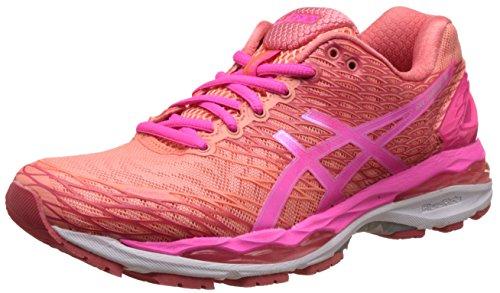 Asics Women's Gel-Nimbus 18 Peach Melba, Hot Pink and Guava Running Shoes – 6 UK/India (39.5 EU)(8 US)