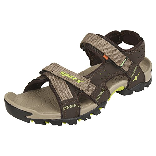 Sparx Men's SS0447 Series Camel Fluorescent Green Synthetic Casual Sandal 9UK