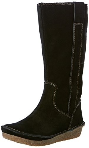 Clarks Women's Lima Rhapsody Sde Black Leather Boots – 5 UK/India (38 EU)