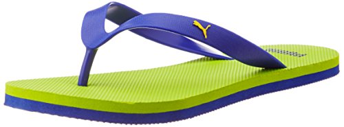 Puma Unisex Odius DP Lime Punch, Surf The Web and Dandelion Rubber Flip Flops Thong Sandals – 8 UK