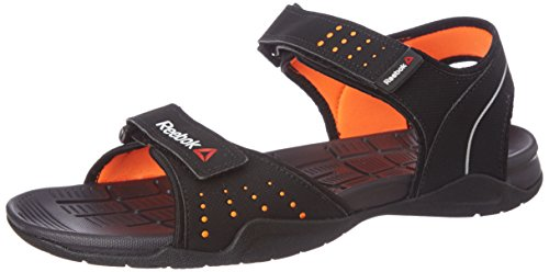 Reebok Men's Z Connect Black, Orange, Met Sil and Gry Flip-Flops and House Slippers – 7 UK/India (40.5 EU)(8 US)