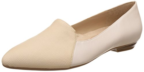 Naturalizer Women's Proclaim Beige Leather Ballet Flats – 5 UK/India (38 EU)(5548780)
