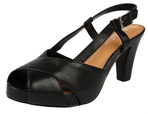 Clarks Women's Selena Jill Black Fashion Sandals – 6 UK