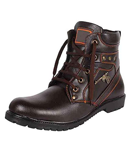 Imcolus Men's Brown Synthetic Chelsea Boots_8 UK
