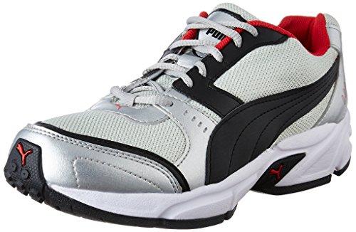 Puma Men's Argus DP Puma Silver, Puma Black and High Risk Running Shoes – 9 UK/India (43 EU)