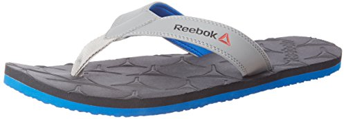 Reebok Men's Gradient Flip Iii Gravel, Flat Grey and Blue Flip-Flops and House Slippers – 9 UK/India (43 EU)(10 US)