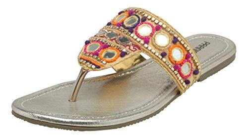 Pranisha Women's Multi-Coloured Indian Ethnic Footwear – 4 UK