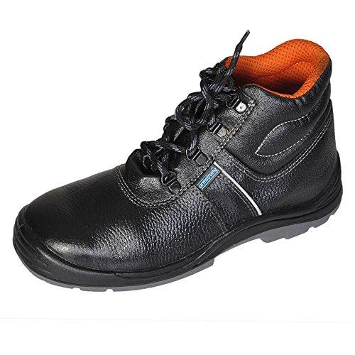 Armstrong Men's Defender Black Leather Safety Shoes -7 UK