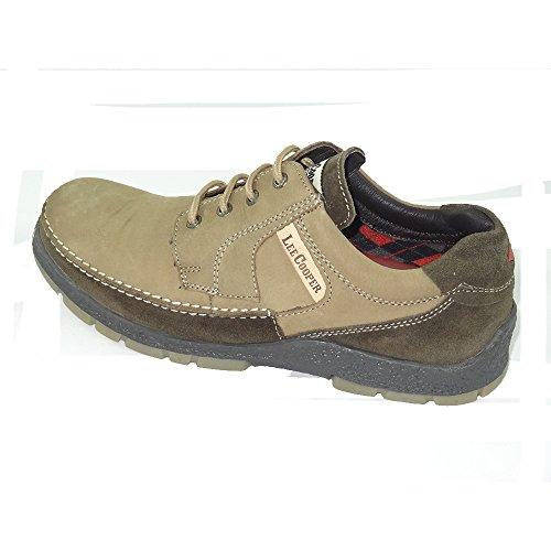 Lee Cooper Men's Camel Leather Boots – 9 UK/India (43 EU)