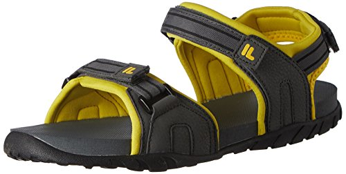 Fila Men's Fabiola Grey and Yellow Sandals and Floaters -10 UK/India (44 EU)