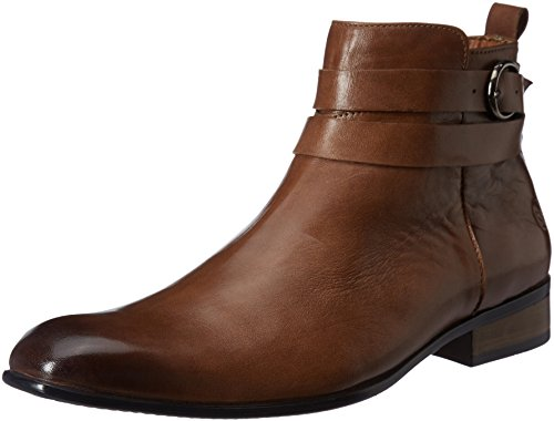 Saddle & Barnes Men's Tan Leather Boots – 8 UK/India (42 EU)(HS-39)
