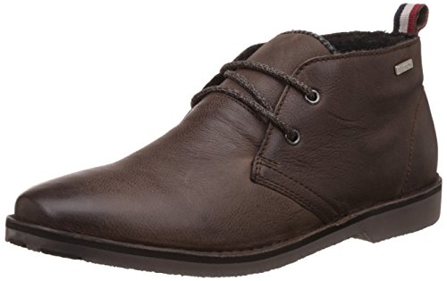 Superdry Men's Winter Dakar Dark Brown Leather Boots – 9 UK/India (43 EU)