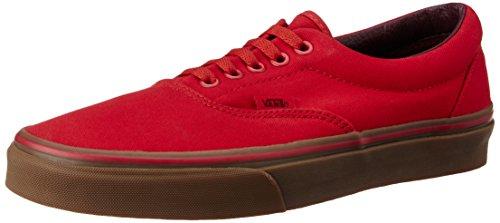 Vans Unisex Racing Red and Gum Leather Sneakers – [9 UK (43 EU) (10 US)]
