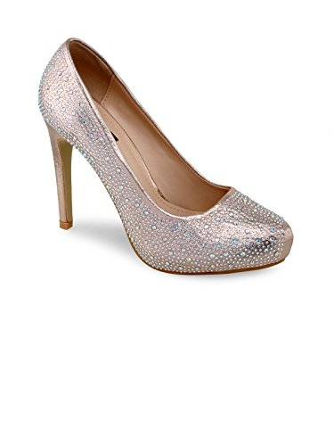 SHUZ TOUCH CHAMPAGNE PUMPS & PEEP TOES (Size-36)