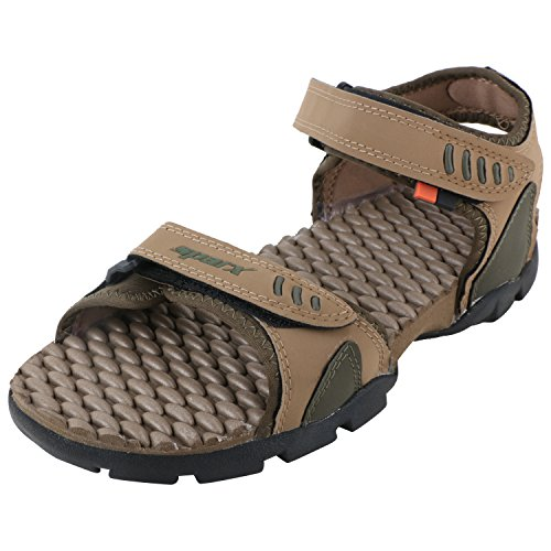 Sparx Men's SS0103 Series Olive Camel Synthetic Casual Floater Sandals 9Uk