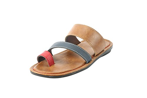 Bacca Bucci Men Multicolor Leather Slippers 9 Uk