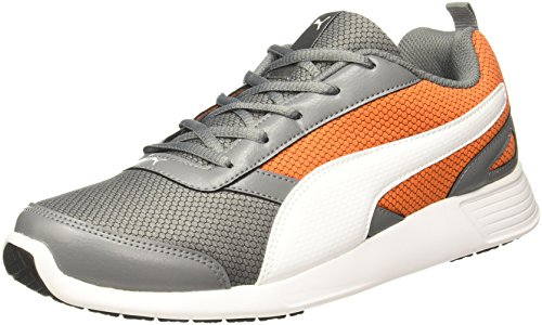 Puma Men's Fettle Mesh Quite Shade-Vibrant Orange-White Running Shoes – 5 UK/India (38 EU)