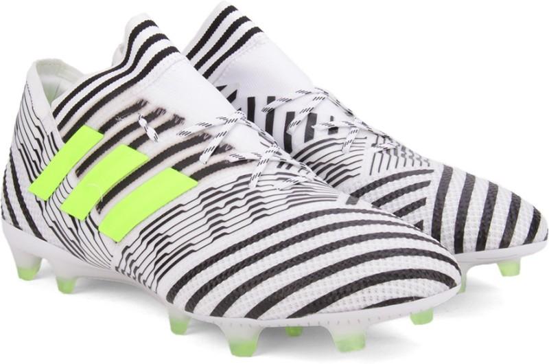 Adidas NEMEZIZ 17.1 FG Football Shoes(Black, White)