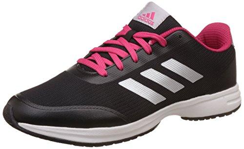 adidas Women's Ezar 4.0 W Cblack, Silvmt and Vivber Running Shoes – 4 UK/India (36.67 EU)