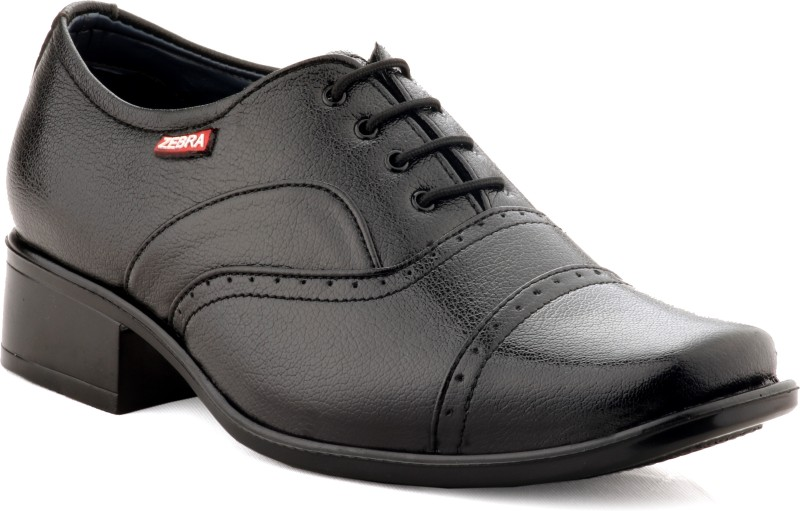 zebra mens regular 100 pure sleather new edition black formal shoes lace -