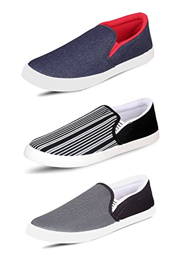 Scatchite Pack Of 3 Premium Casual Shoes (7, RED)