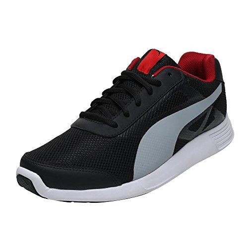 Puma Men's Magneto Idp Black, High Risk Red and Quarry Running Shoes – 10 UK/India (44.5 EU)