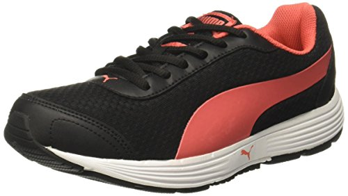 Puma Women's Reef Wns Black-Hot Coral Running Shoes – 7 UK/India (40.5 EU)