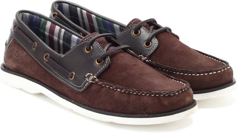 U.S. Polo Assn. Men Boat Shoes(Brown)