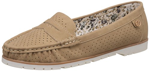 CL by Carlton London Women's Pelagia Beige Loafers and Moccasins – 5 UK/India (38 EU)