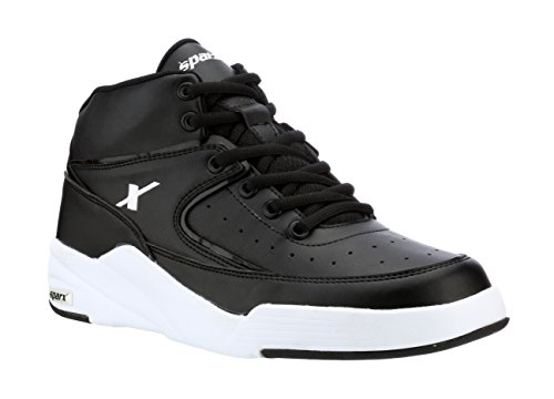 Sparx Men's Black White Synthetic Sneakers (SX0285G)-10 UK