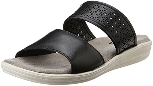 Hush Puppies Women's Bella_Mule Black Leather Slippers – 6 UK/India (39 EU)(5746963)