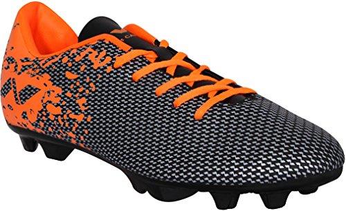 Nivia Premier Carbonite Range Football Studs, Men's UK 7 (Black/Orange)