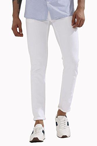 Calcium White Mens Copperstone Slim Fit Jeans