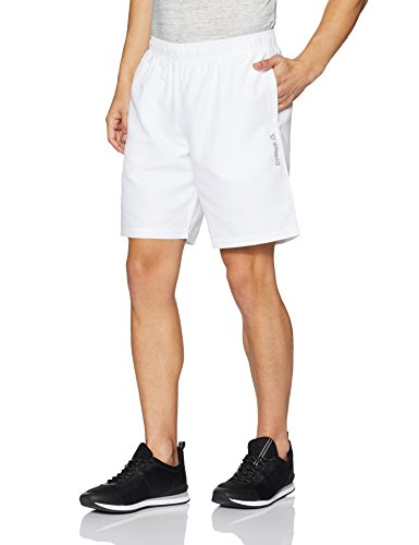 Reebok Men's Synthetic Shorts (4058031506622_CF6175_L_WHITE)