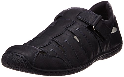 Hush Puppies Men's Oily Fisherman Black Leather Athletic and Outdoor Sandals – 6 UK/India (40 EU)(8546906)