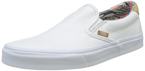 Vans Unisex Slip-On 59 (C&L) Dolphins and True White Loafers and Moccasins – 8 UK/India (42 EU)