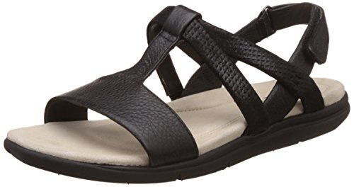 Hush Puppies Women's Taila Aida Black Leather Fashion Sandals – 6 UK/India (39 EU)(5646150)