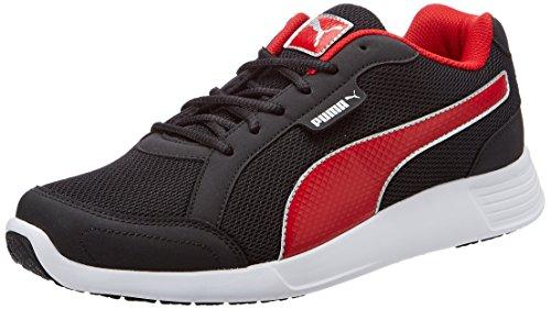 Puma Men's Electro Idp Black and Barbados Cherry Running Shoes – 10 UK/India (44.5 EU)