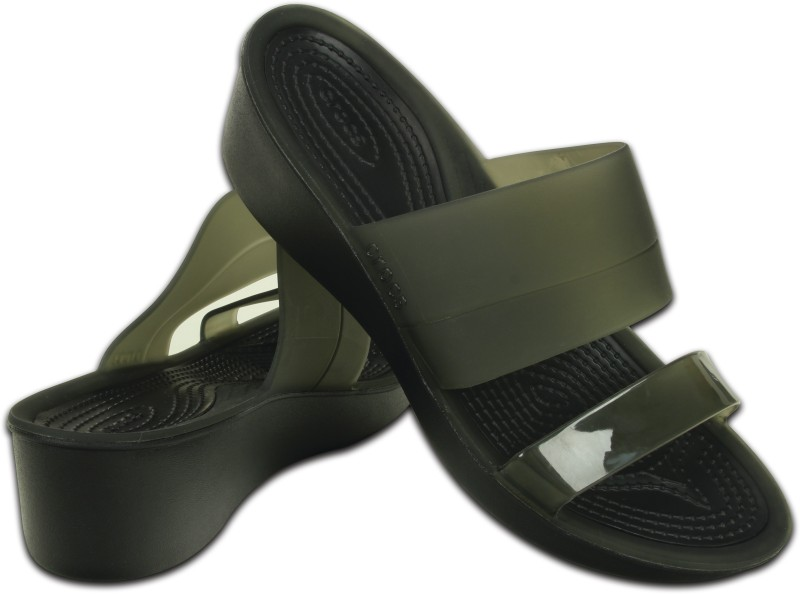 Crocs Women Black/Black Wedges