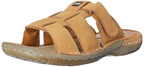 Red Chief Men's Rust Leather sandals and floaters – 9 UK/India (43 EU)(RC1360A)