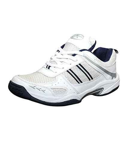 Zigaro Badminton Shoe-White Navy (free delivery)